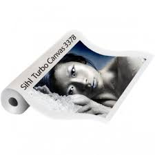 TURBO SATIN CANVAS 370GSM FOR SOLVENT PRINTERS. SPECIAL COATING ALLOWS HEAVY INK LOADS. 914X15M ROLL