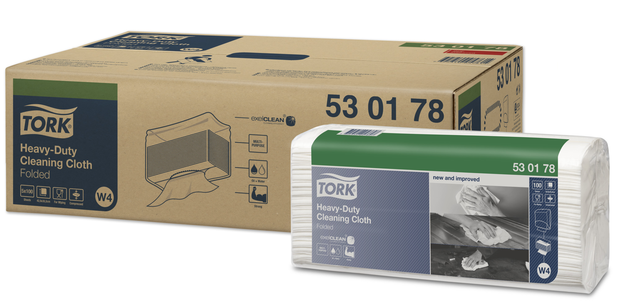 TORK 530 TOP PACK 100 WHITE 530178