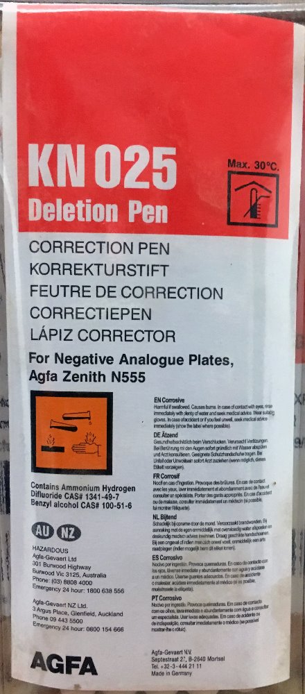 AGFA KN025 NEG DELETION PENS PACK OF 3