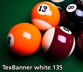 TEXBANNER WHITE 135GSM MATT. SYNTHETIC NON WOVEN HIGH STRENGTH OUTDOOR BANNER MATERIAL. 1118 X 45.7M