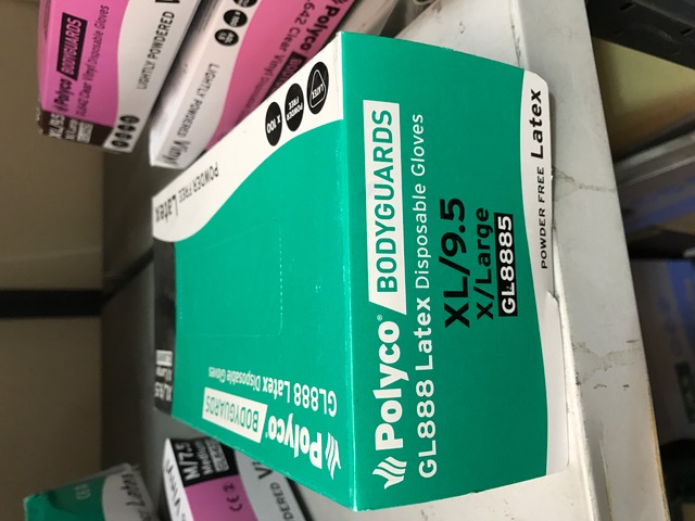 LATEX DISP POWDER FREE XL BOX OF 100