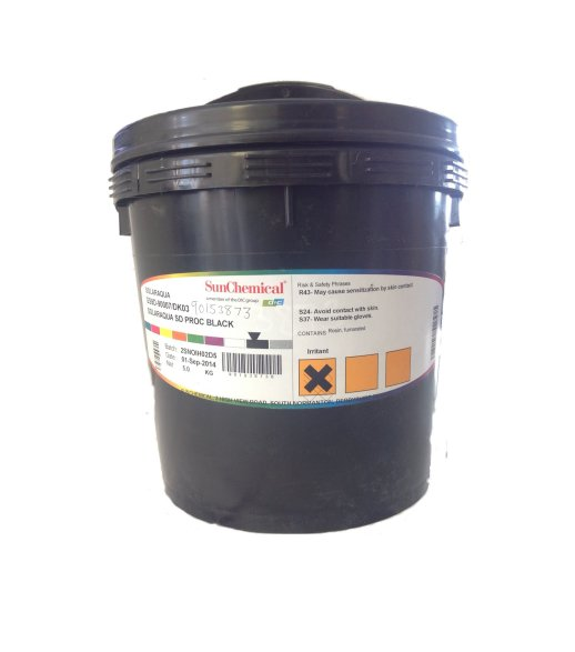 SOLARAQUA PMS 607U YELLOW:DL02 INK MIX 5KG TUB